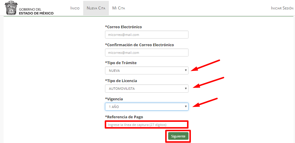 Requisitos para citas en Edoméx