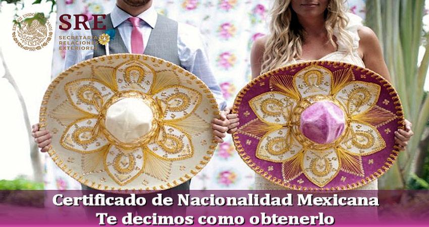 Certificado de Nacionalidad Mexicana