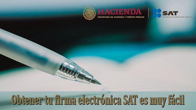 firma electrónica SAT