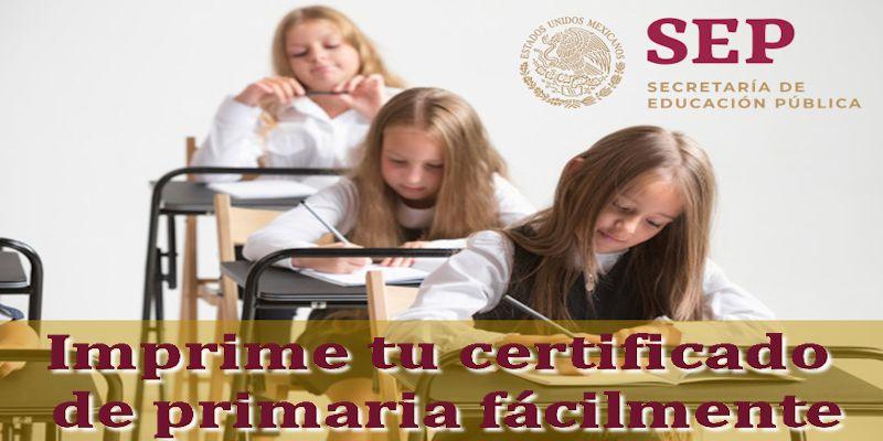 Certificado de Primaria