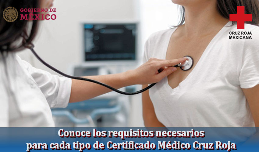 Certificado Médico Cruz Roja