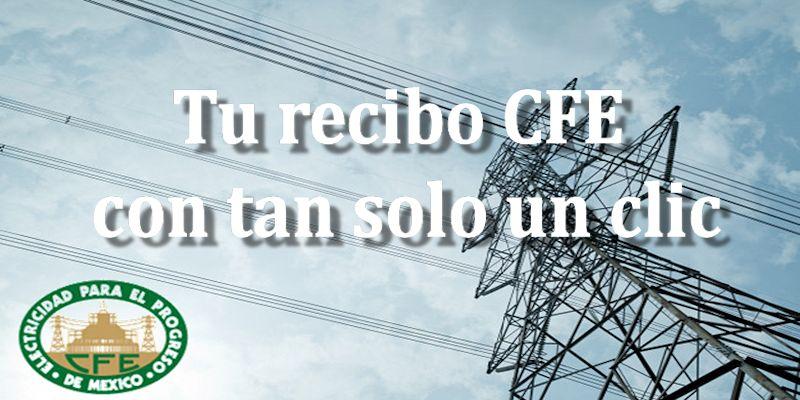 recibo CFE-a través de internet