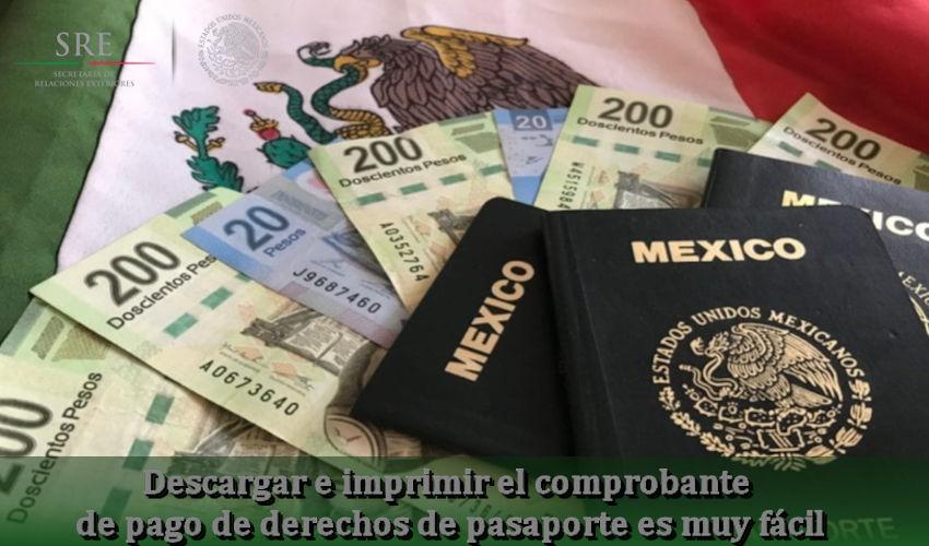 comprobante de pago de derechos de pasaporte