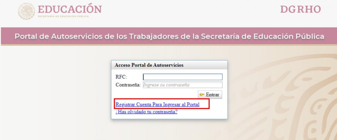 enlace para registrarse en mi portal sep