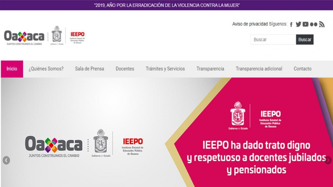 pagina de inicio del fone ieepo